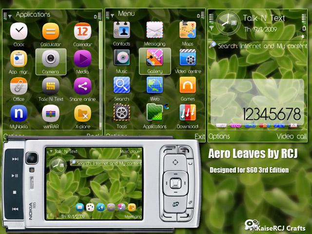 Aero Leaves Theme for Nokia S60v3 and S60v2 | KaiseRCJ Theme